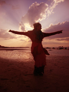 audicia on the beach
